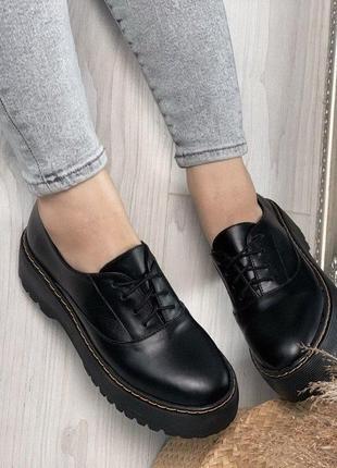 Туфли женские новые из натуральной кожи на платформе в наличии