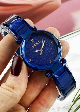 Женские часы skmei blue