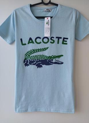 Оригинальная хлопковая футболка lacoste
