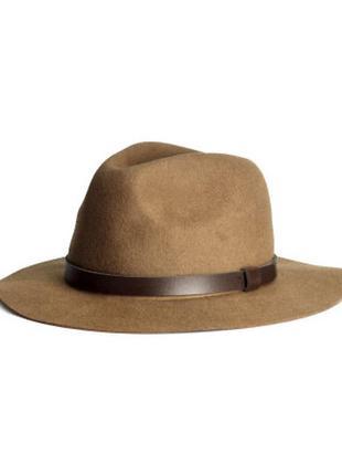 🌿шерстяная шляпа h&m шляпка из шерсти капелюх