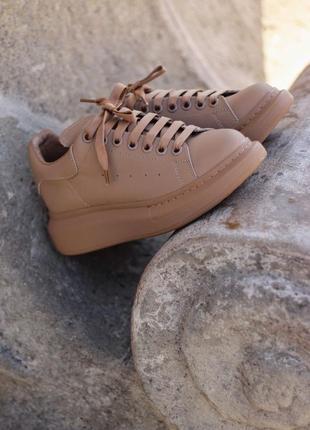 Alexander mcqueen  beige 🆕 осенние кроссовки маквин 🆕 купить наложенный платёж