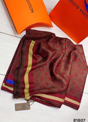 💥хит шикарный палантин шарф в подарочной коробке с монограммой