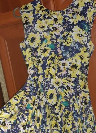 Цветочное платье сарафан летний