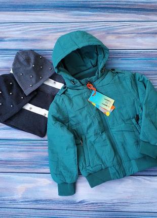 Красивая куртка бомбер для девочки бренд rm kids,качество супер +шапка,снуд в подарок!