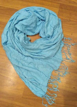 Голубой палантин, шарф