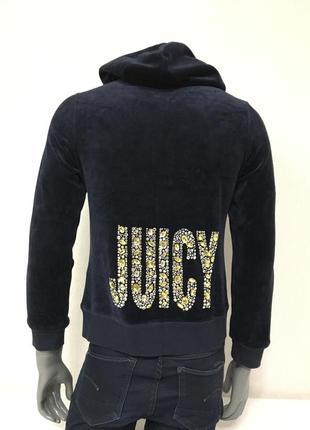 Кофта на молнии с капюшоном juicy couture