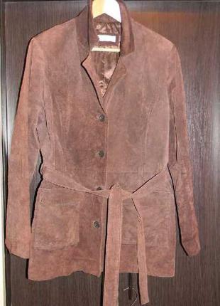 New look замшевая женская курточка кардиган m-lp