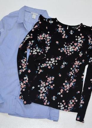 Красивая блуза в цветочный принт, и с рюшами