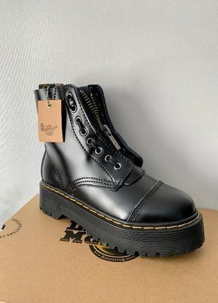 Dr. martens jadon blackzip ботинки женские мартенси
