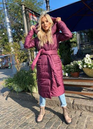Зимнее пальто на запах👍