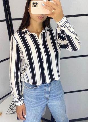 Рубашка в полоску идеальная , 100% хлопок,размер m,