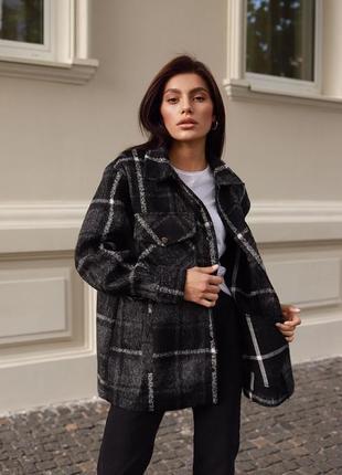Куртка-рубашка из шерсти