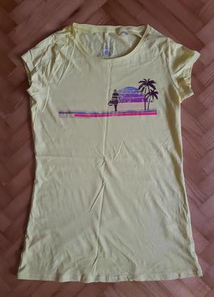 Хлопковая удлиненная футболка o'neill! p.-xl! оригинал