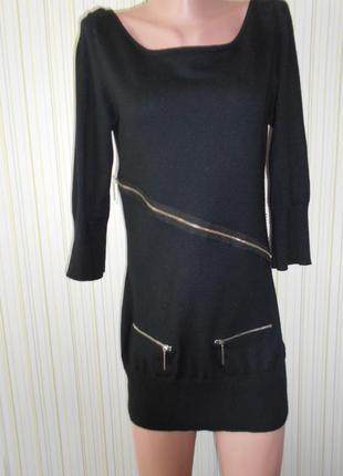 #стильная тепленькая трикотажная туника с ангорой#warehouse#платье# р.m\s