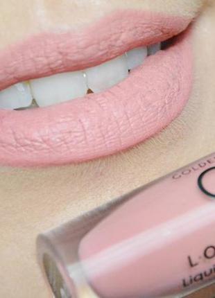 Матовая жидкая стойкая помада golden rose longstay liquid matte lipstick 01