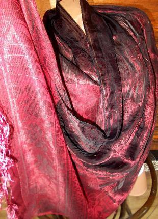 Роскошный очень интересный шарф 160х65см