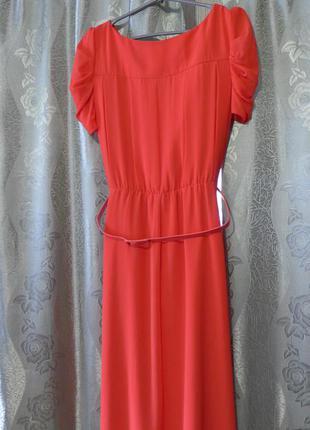 Платье лососевого цвета