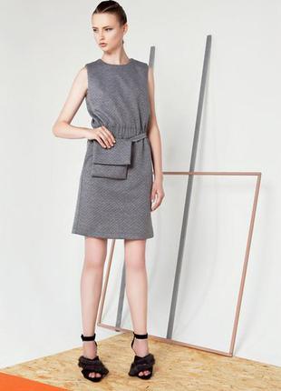 Модное серое платье