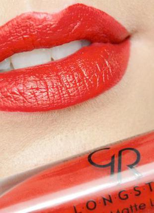 Матовая жидкая стойкая помада golden rose longstay liquid matte lipstick 09
