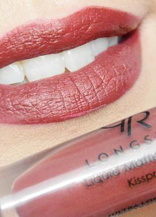 Матовая жидкая стойкая помада golden rose longstay liquid matte lipstick 12