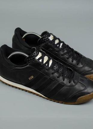 Фирменные кожаные кроссовки adidas rom