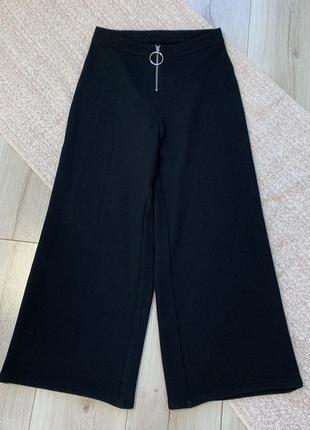 Чёрные кюлоты штаны mango