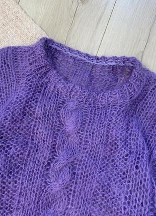Тёплая мохеровая кофта свитер