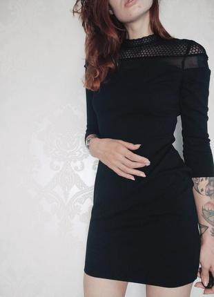 Платье с прозрачным верхом
