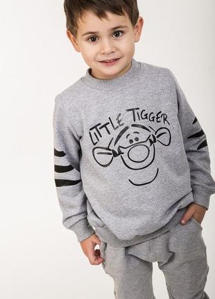 Детский свитшот с принтом little tigger
