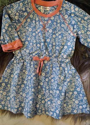 Милон платье/сарафан, плотный хлопок, на осень на 2-3-4 года