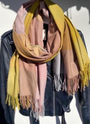 Утепляйся красиво !❤️кашемировый шарф в клетку❤️🍂