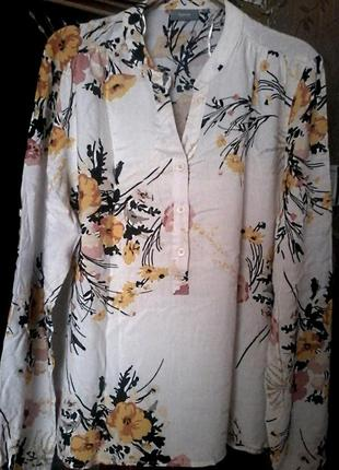 Вискозная блузка рубашка от b.young на размер 50-52