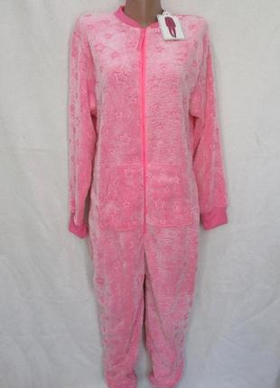 Тёплый махровый слип кигуруми человечек пижама