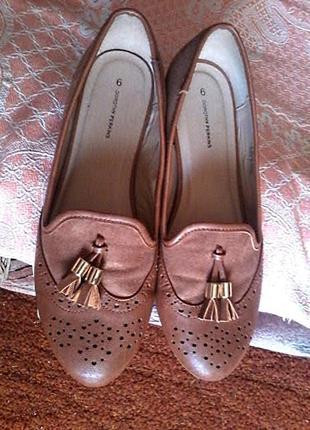 Туфли балетки лоферы от dorothy perkins,размер 6/39, стелька25,5см