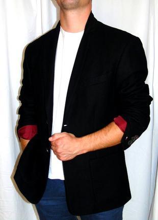 Hilfiger denim шикарная пиджак шерсть - l - xl9 фото