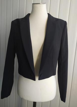 Пиджак жакет укороченный короткмй чёрный h&m 170/92 cм новый