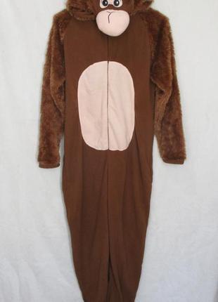 Флисовый костюм слип кигуруми человечек пижама обезьяна