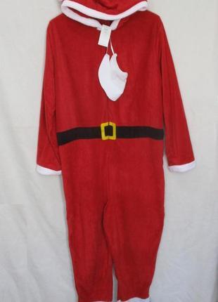 Флисовый костюм санта/кигуруми слип пижама