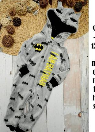 Мягенький пушистый ромпер batman