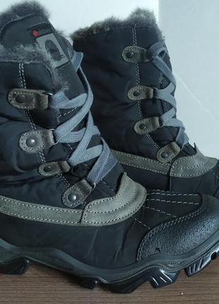 Ботинки теплые кожаные dinsko (mammut, salomon)