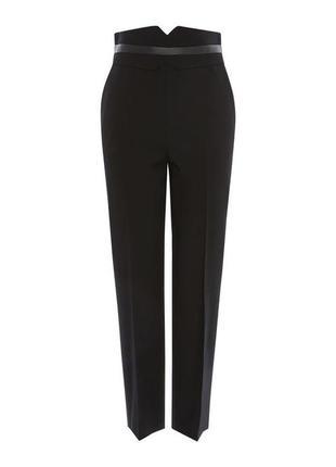 Шерстяные штаны брюки karen millen высокая посадка тренд