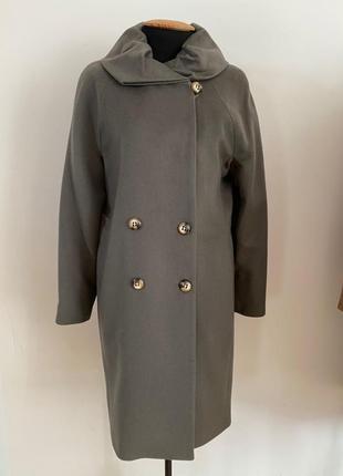 Шерстяное пальто демисезон зима