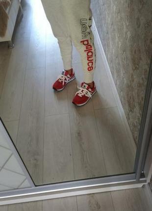Кроссовки красние натуральная замша nb6 фото
