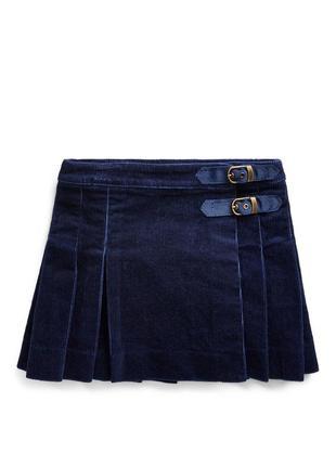Вельветовая юбка килт на девочку 8 лет polo ralph lauren