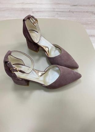 Туфли с итальянской замши  туфлі замшеві