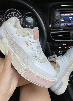 Женские шикарные кроссовки  🔥 puma select cali sport white peach