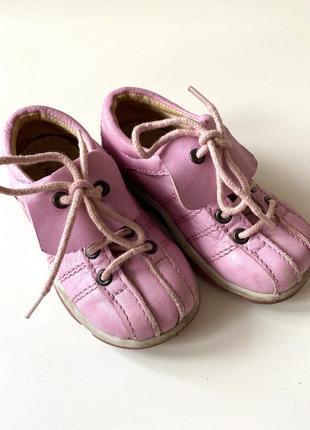 Кожаные туфли на девочку 23р