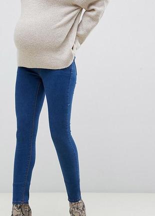Плотные джинсы скинни скини зауженные для беременных вагітних asos