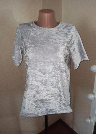 Бархатная футболка с необработанными краями