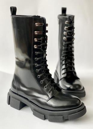 Абсолютный хит! итальянское качество! армейские сапоги из натуральной кожи